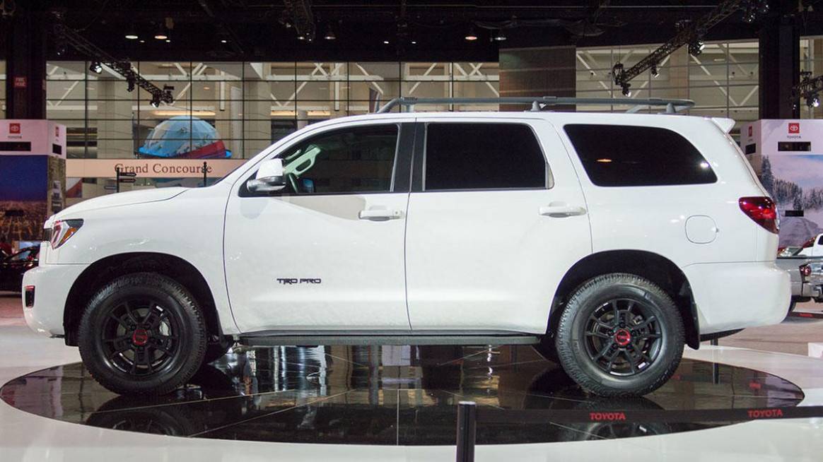 11 Toyota Sequoia TRD Pro dents planet's crust as it lands in ...