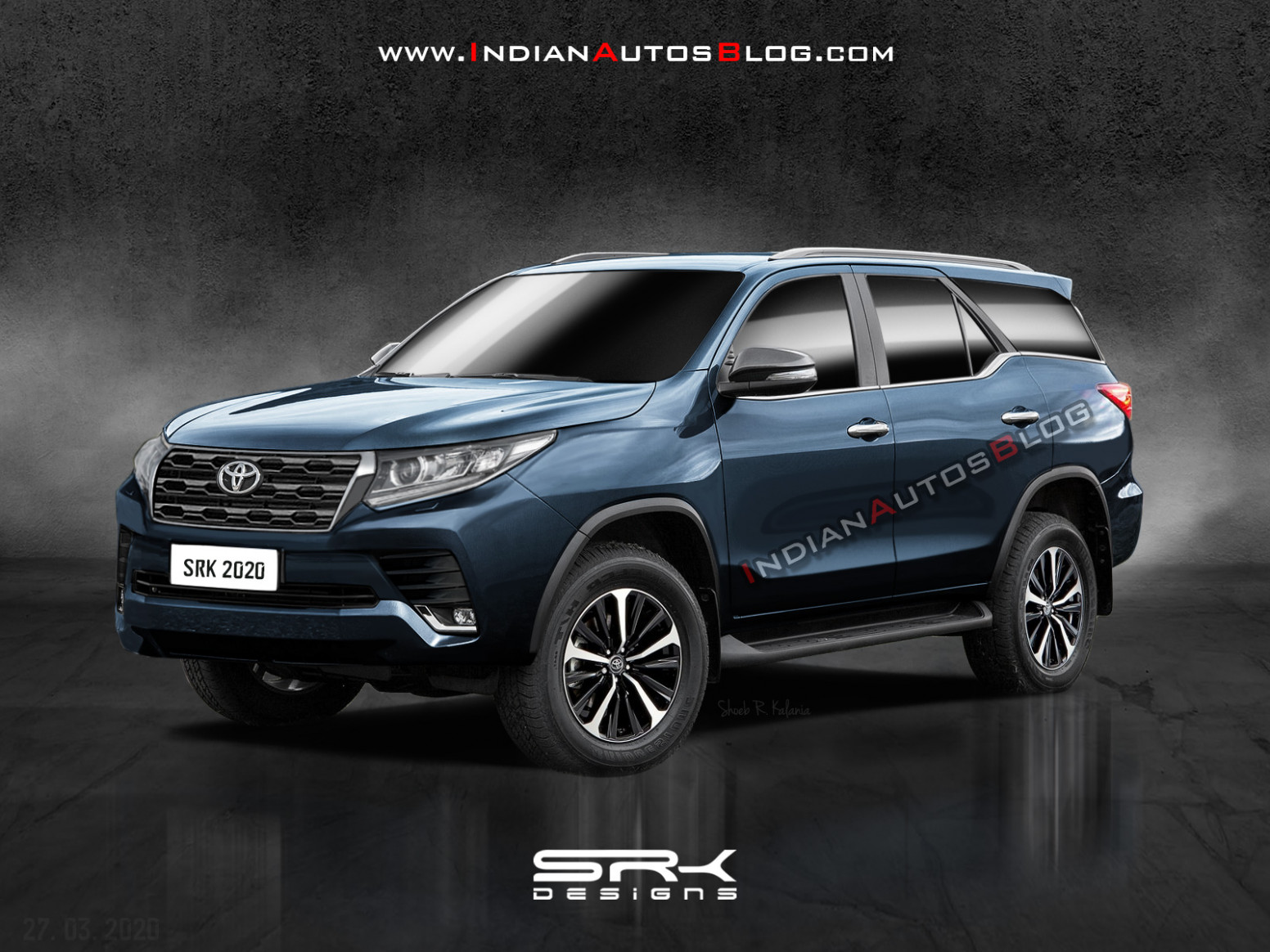 New Toyota Fortuner (facelift) - IAB Rendering   2020 Toyota Fortuner